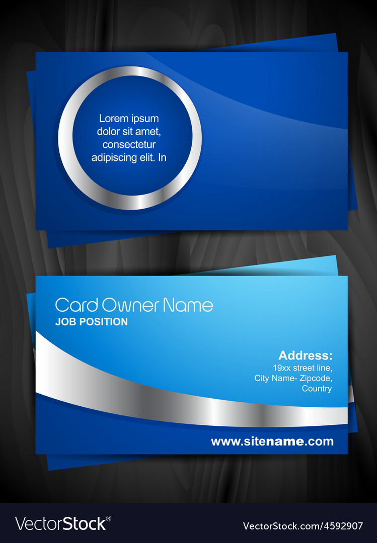 Shiny business card royalty free vector image vectorstock shiny business card vector image colourmoves