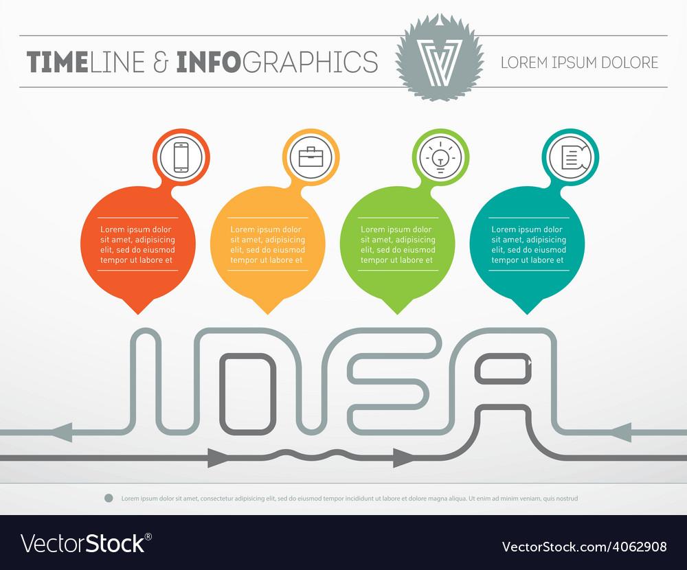How to create a creative idea - web template of Vector Image