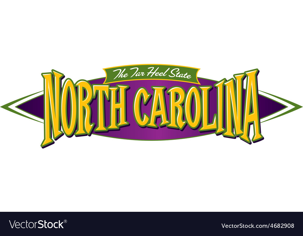 North Carolina The Tar Heel State vector image