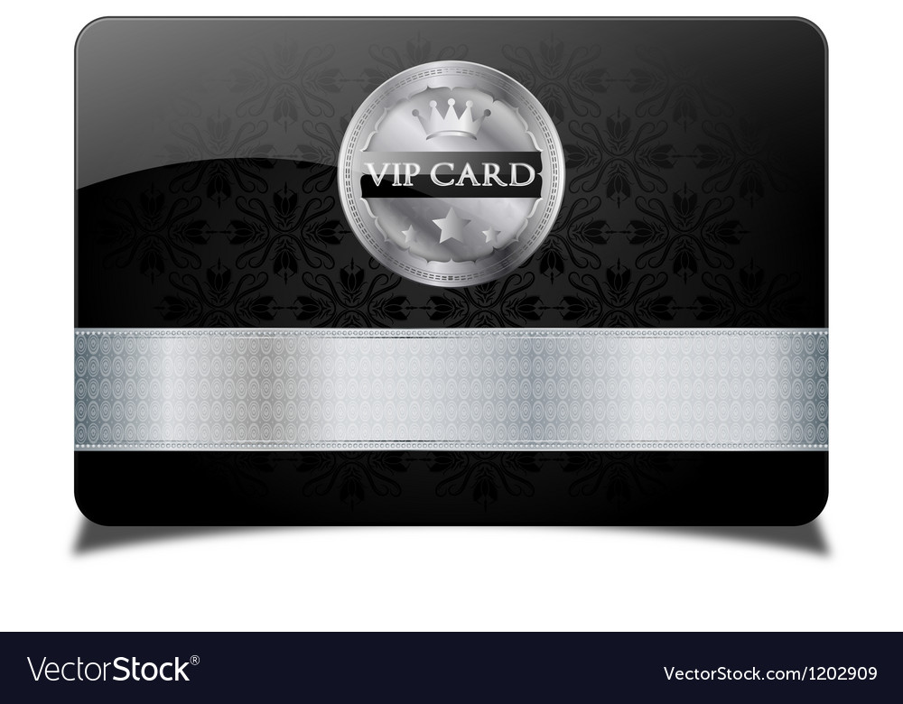 Black vip card vector image