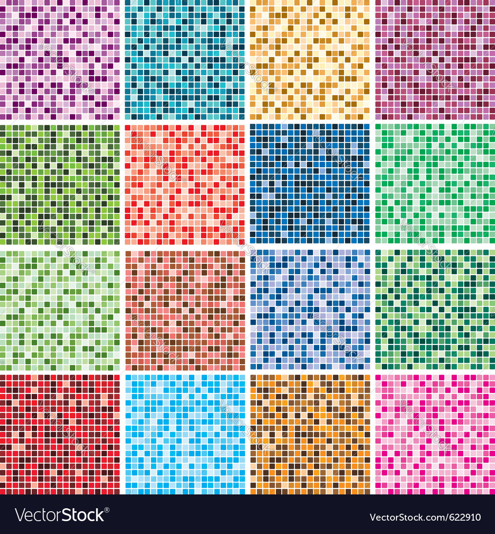 Colorful tile backgrounds Royalty Free Vector Image