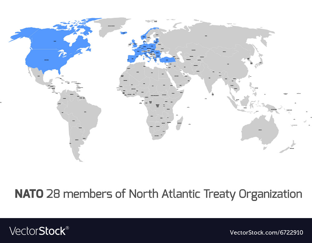 Nato member countries in world map royalty free vector image nato member countries in world map vector image gumiabroncs Choice Image