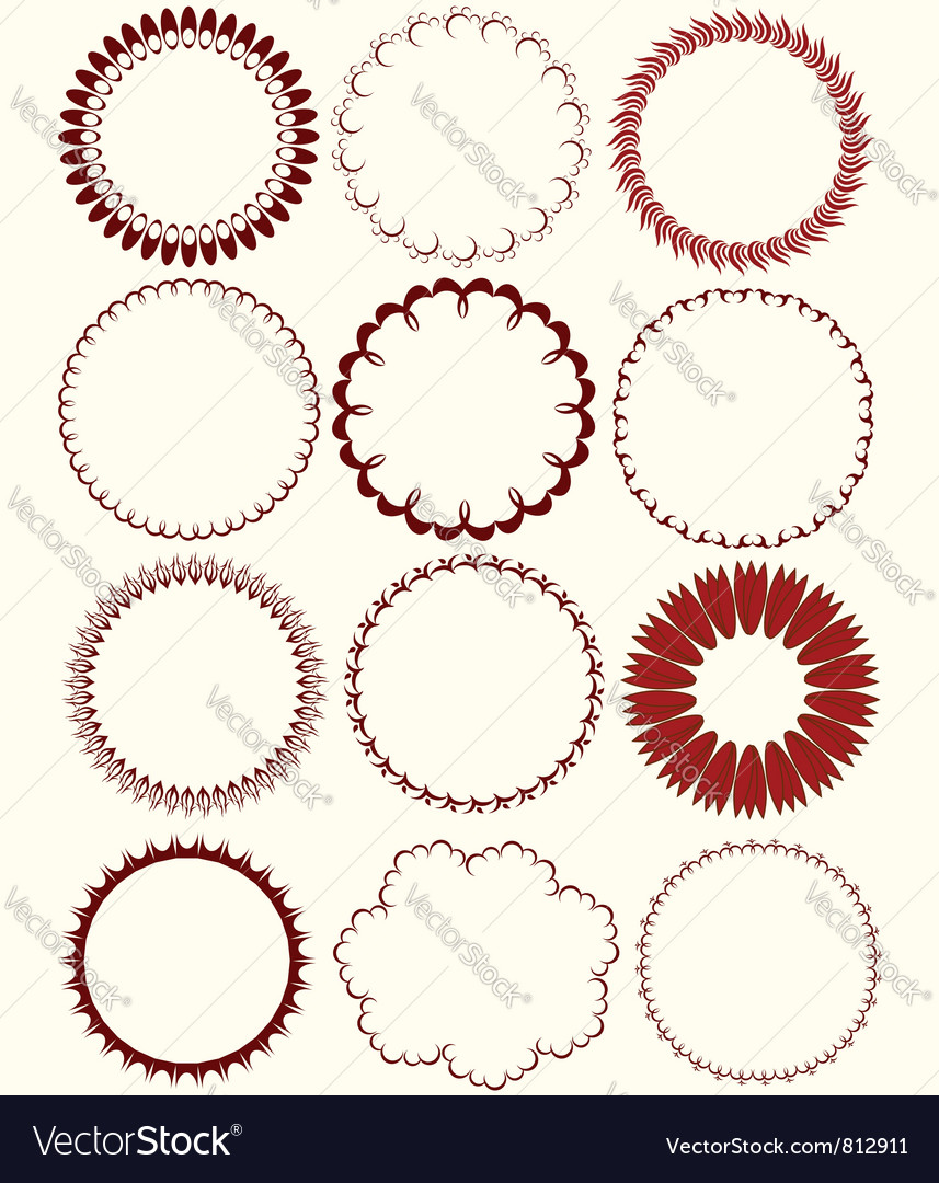 Circular patterns Vector Image