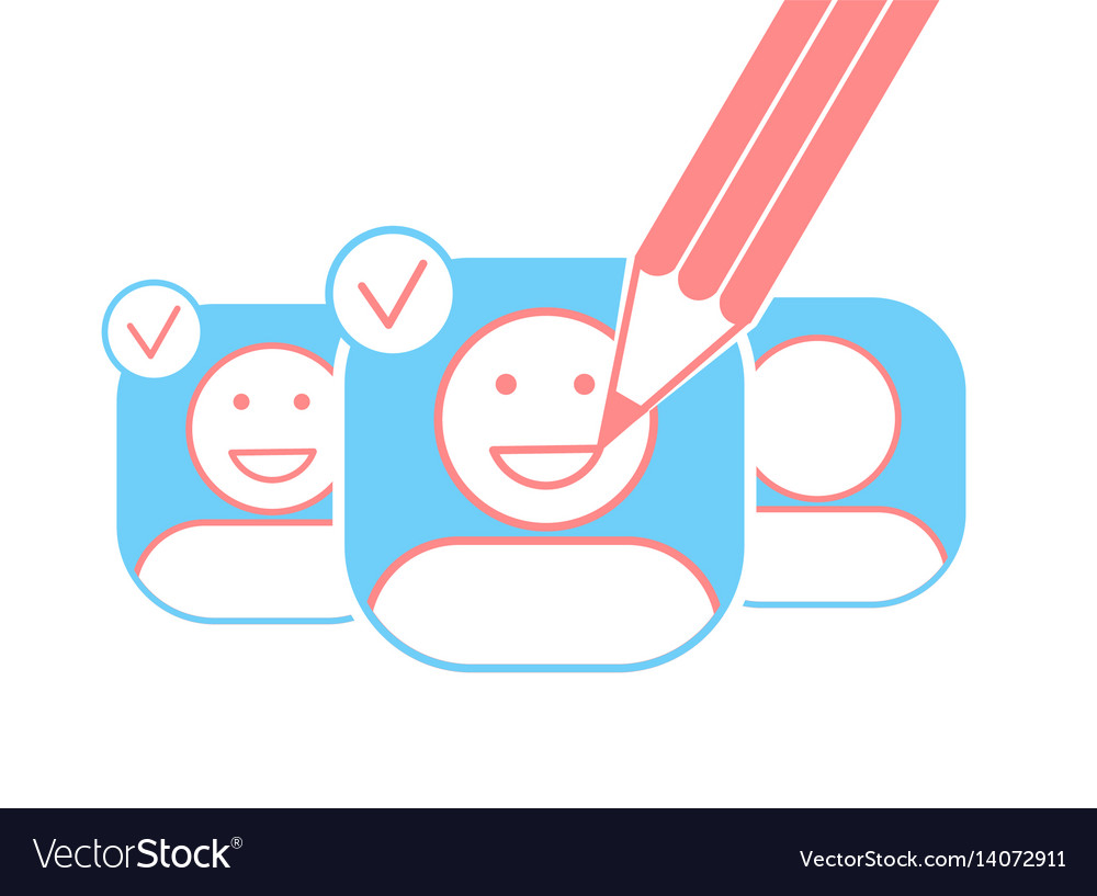 Concept of a saport smiles vector image