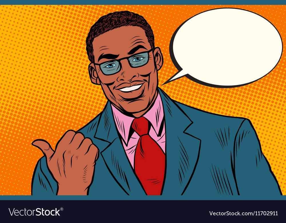 Positive African businessman showing thumb vector image