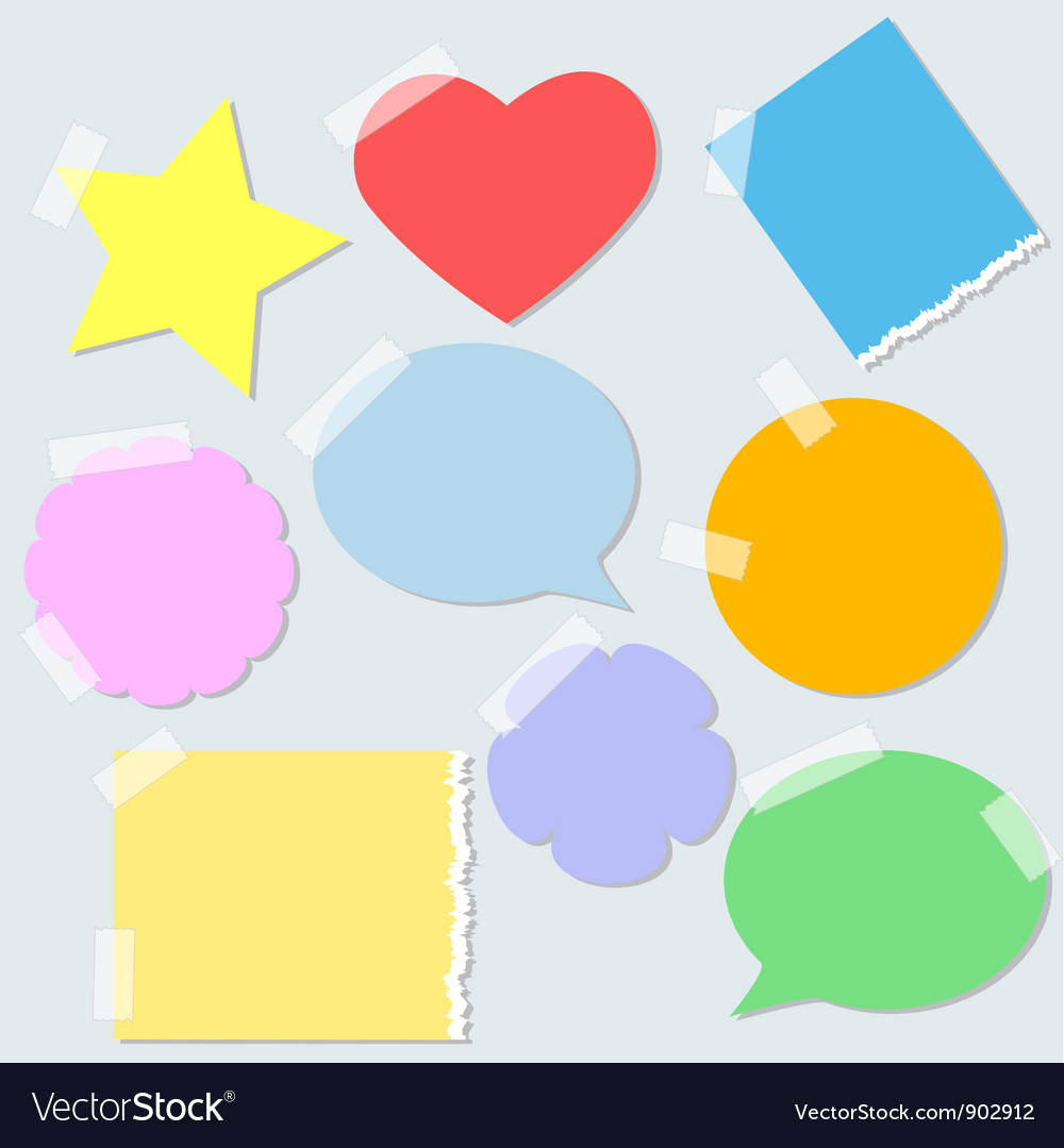 Torn paper stickers vector image