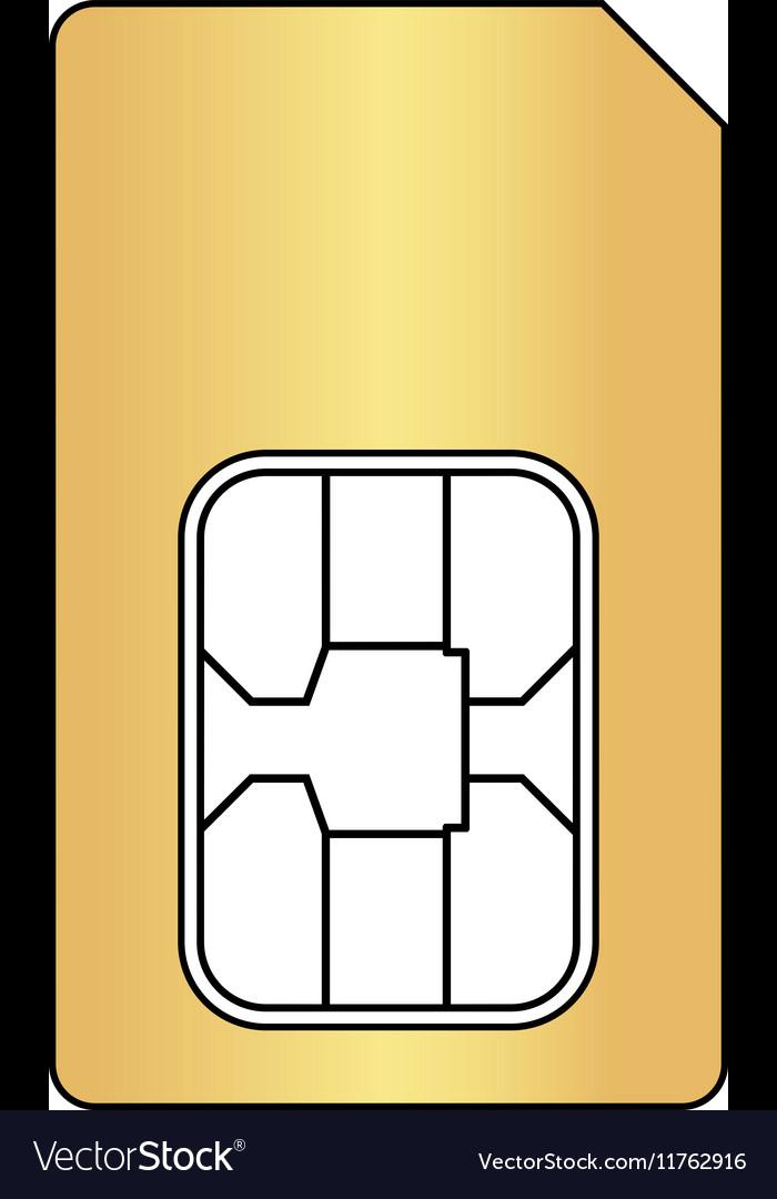 Sim card computer symbol vector image