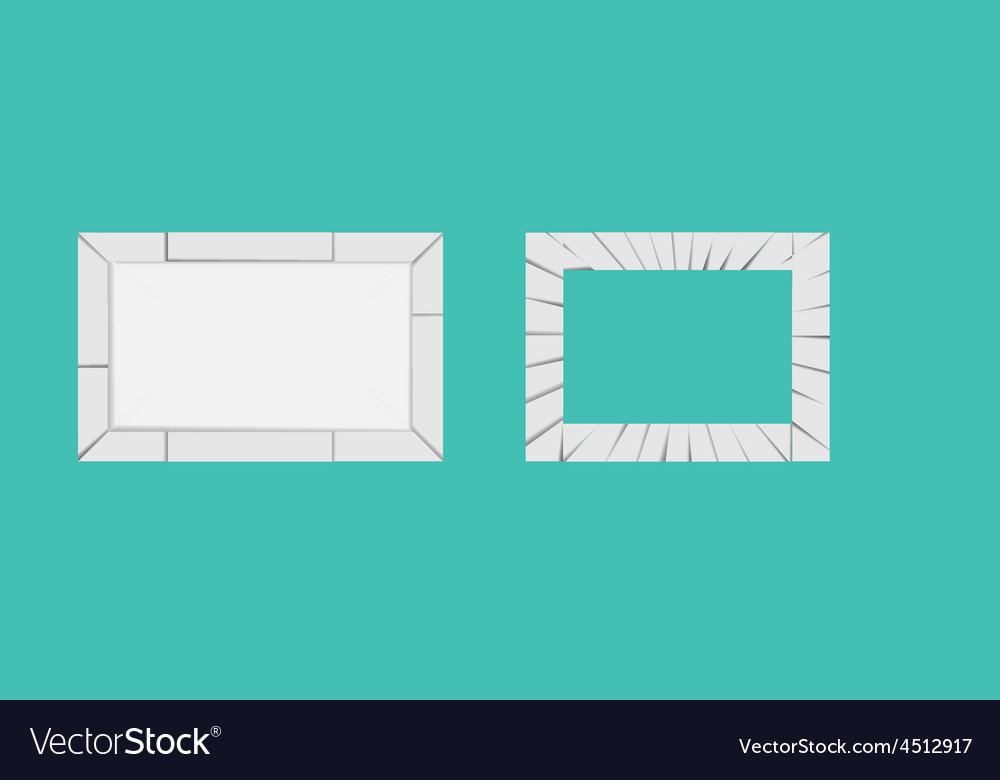 Crack-frame vector image