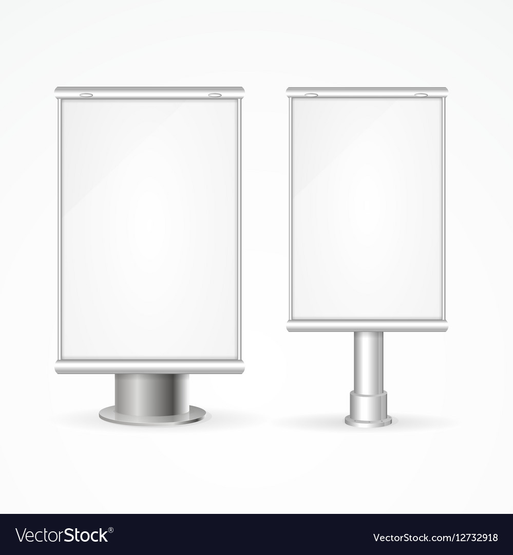 Outdoor Advertising Stand Set vector image