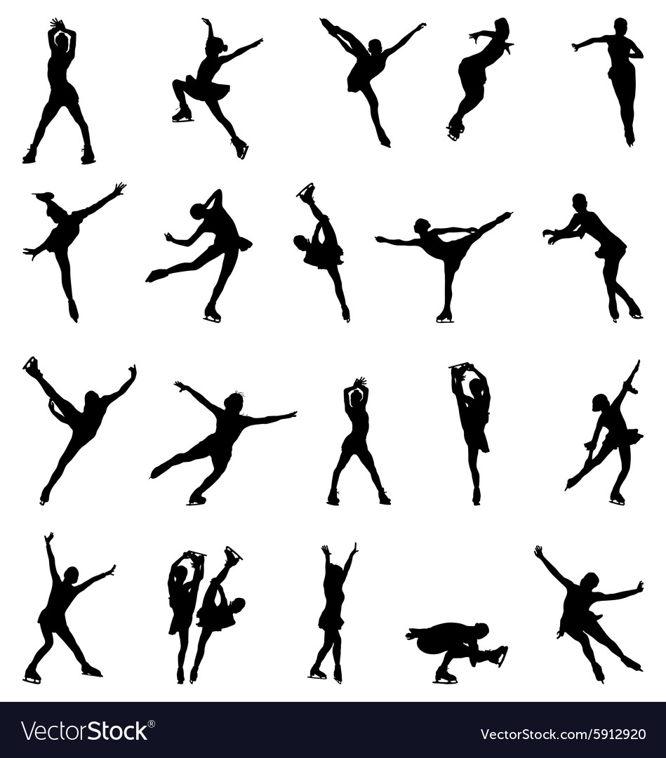 Figure skaters vector image
