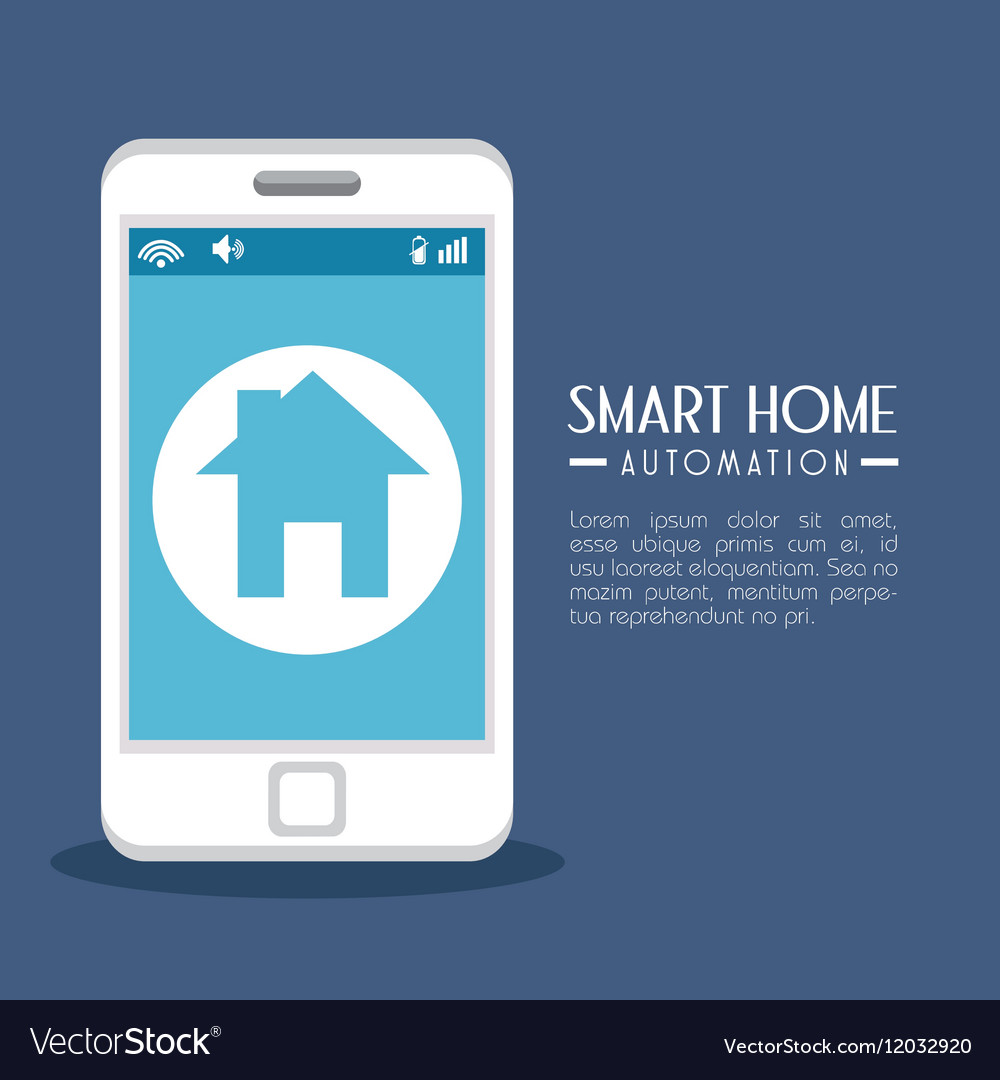 Smart Home Technologies: Smart Home Technology Icon Royalty Free Vector Image