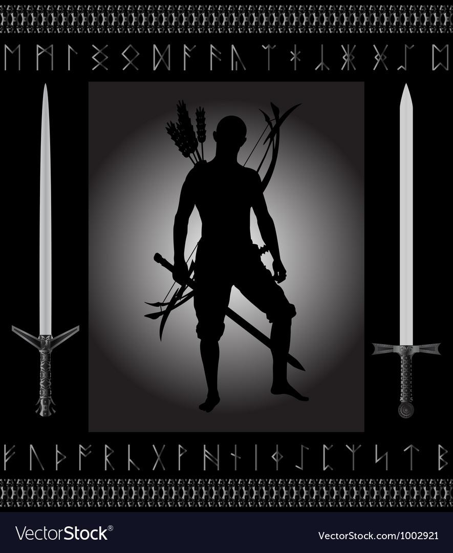 Fantasy hunter vector image