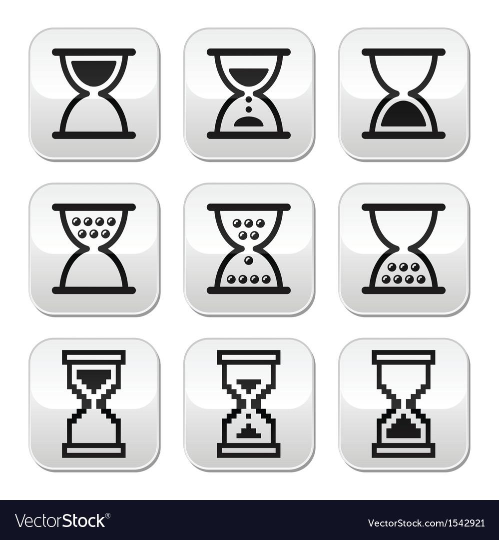 Hourglass sandglass icon set vector image