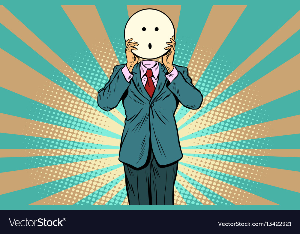 Surprise man smiley emoji face vector image