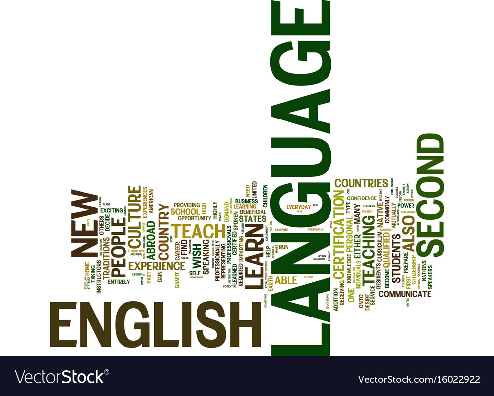English as a second language text background word vector image 1betcityfo Image collections