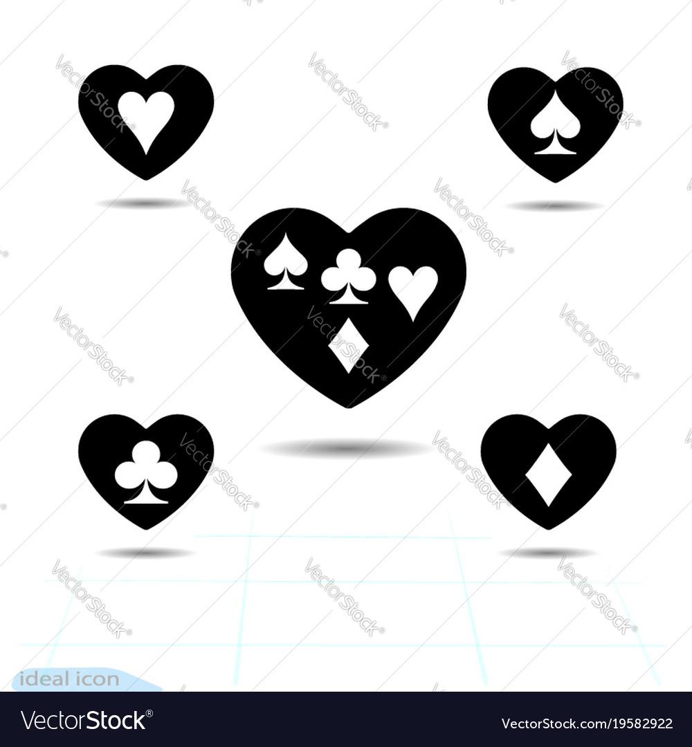 Set kit heart icon a symbol of love valentine vector image set kit heart icon a symbol of love valentine vector image biocorpaavc Images