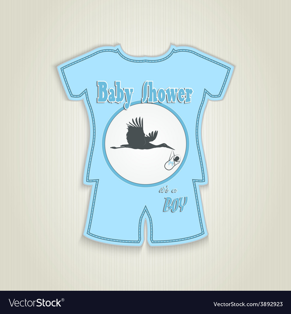 Card in the form of clothing Baby shower vector image