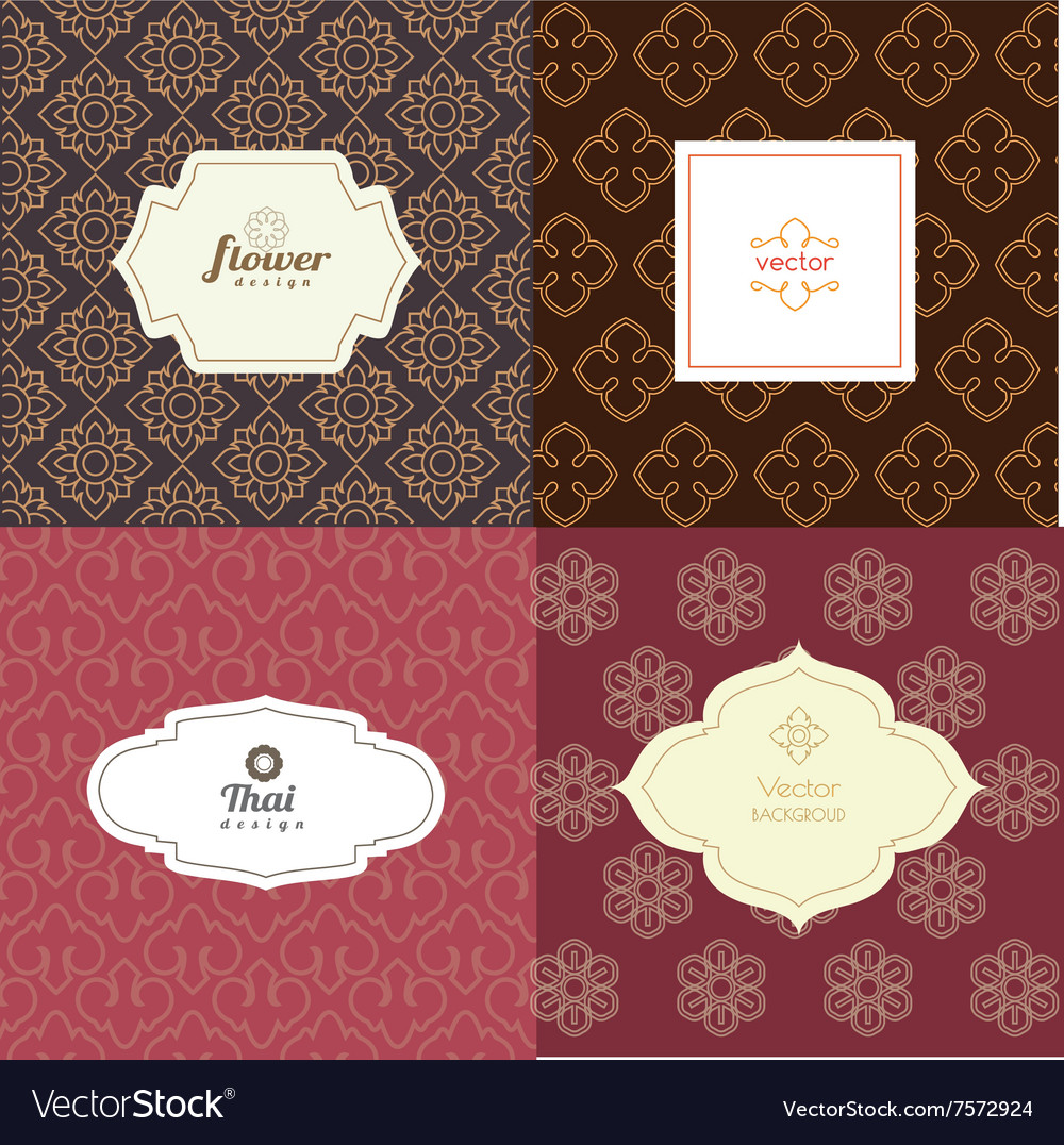 Mono line graphic design templates - labels vector image