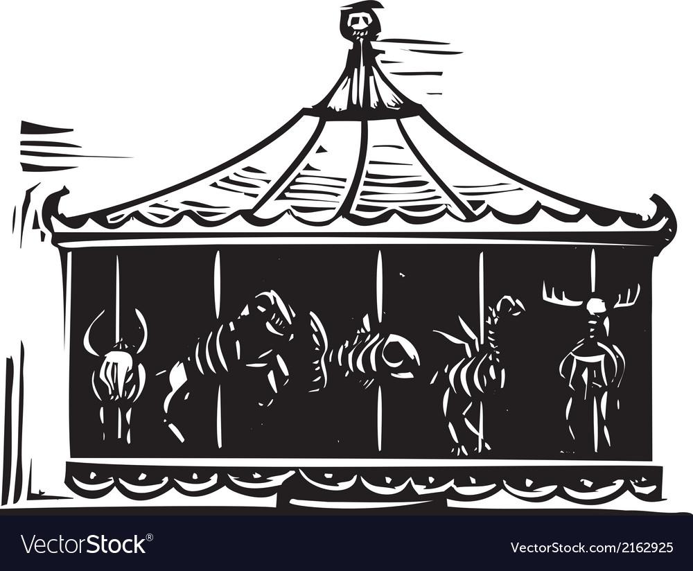 Death Carousel vector image