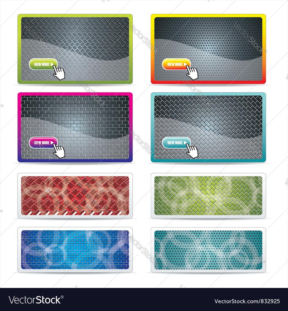 Set metal texture vector image