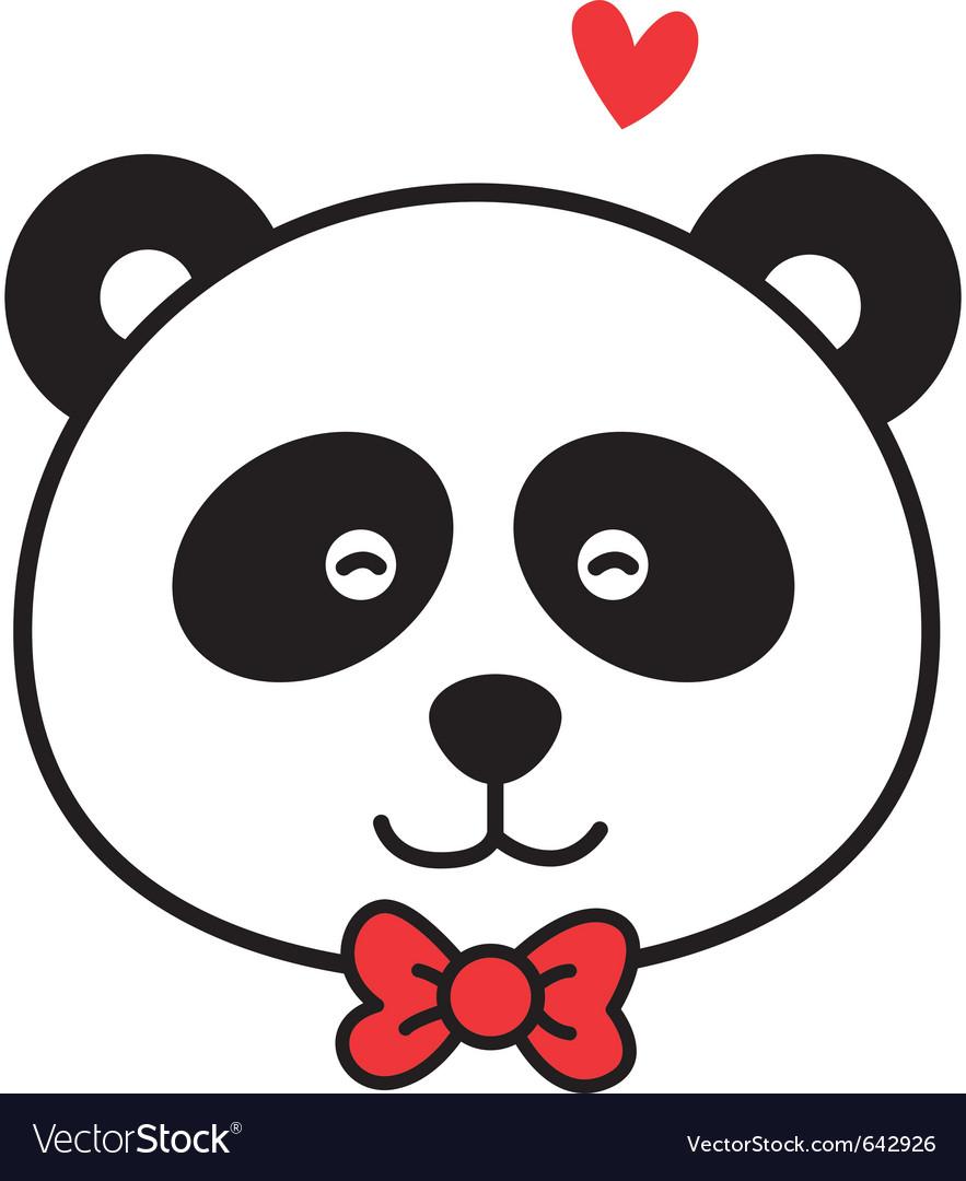 cute panda royalty free vector image vectorstock rh vectorstock com panda vector free download panda vector illustrator