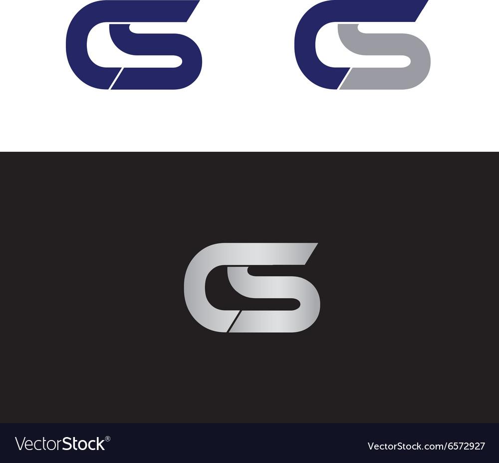 CS Initials vector image