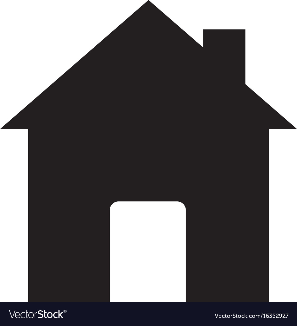 House sign house icon on white background flat vector image