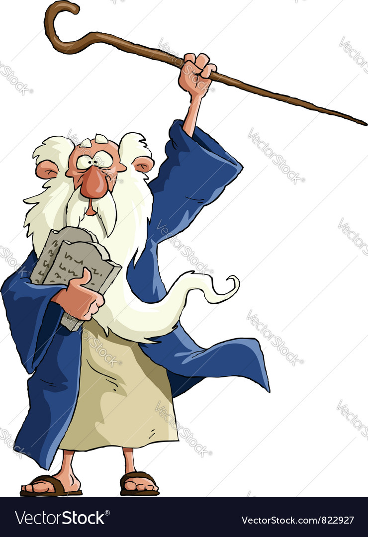 Moses vector image