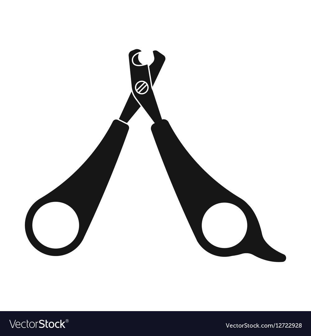 Pet nail clippers icon in black style isolated on Vector Image