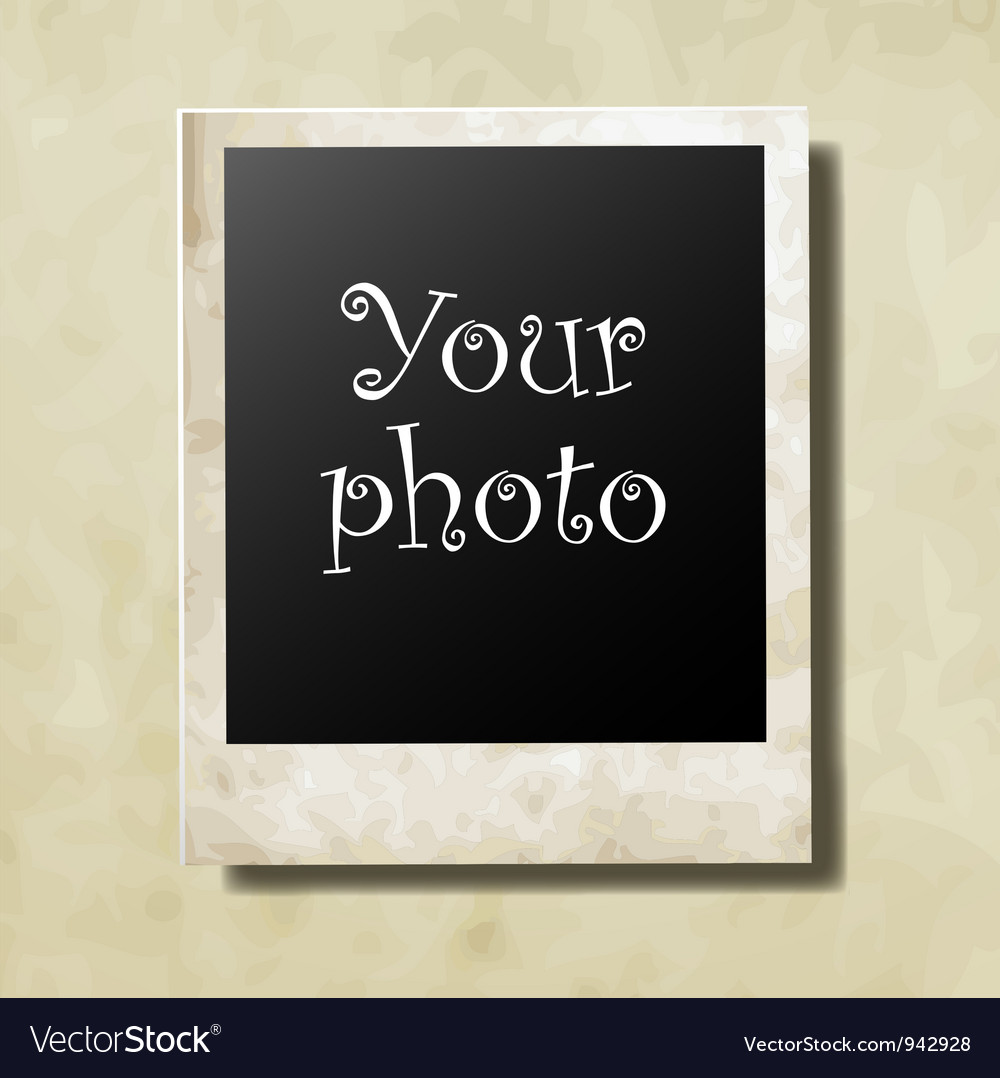 Photo card vector image