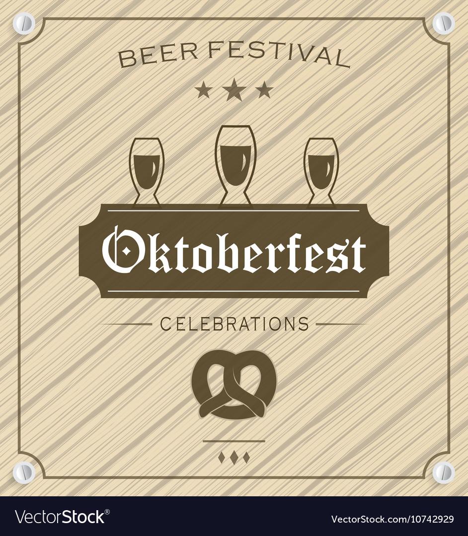 Oktoberfest design vector image
