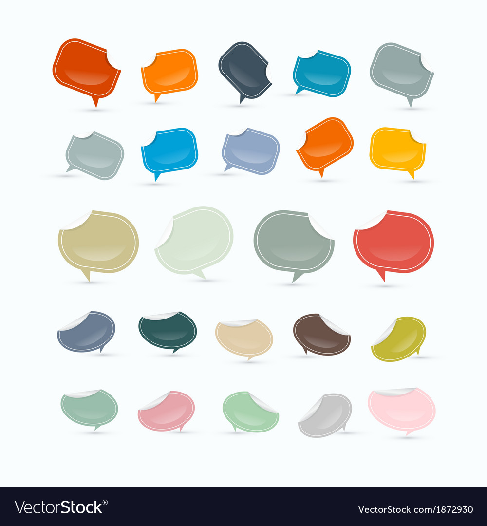 Empty Labels Tags Set vector image