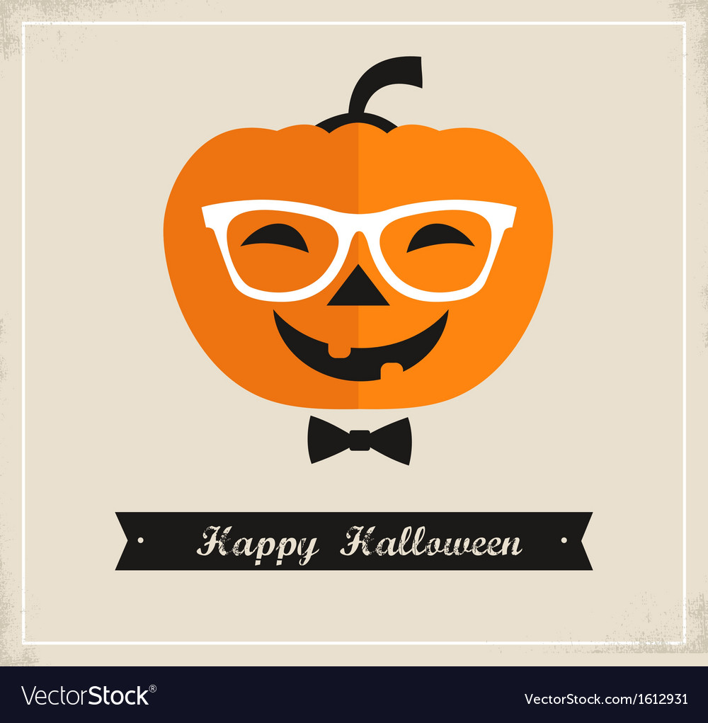 Happy Hipster Halloween vector image