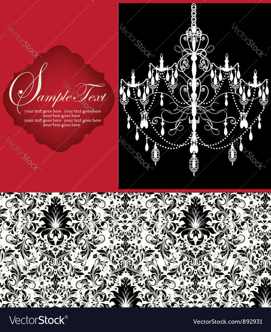 Romantic Invitation Card Design vector image