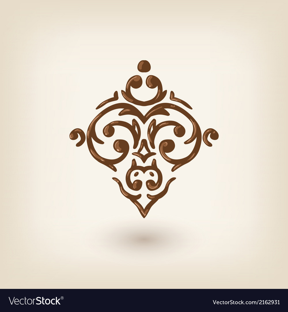 Luxury damask baroque victorian floating design vector image