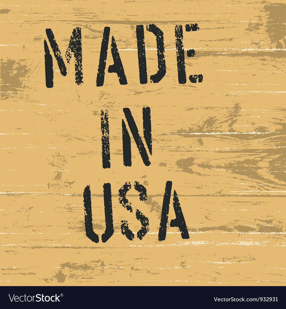 Made in usa vintage western sign vector image