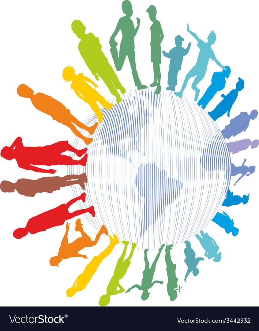 Children from around the world vector image