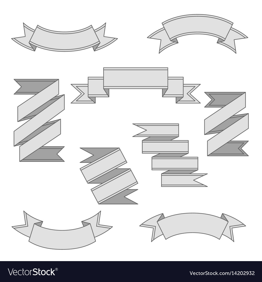 Set of ribbon banners vector image