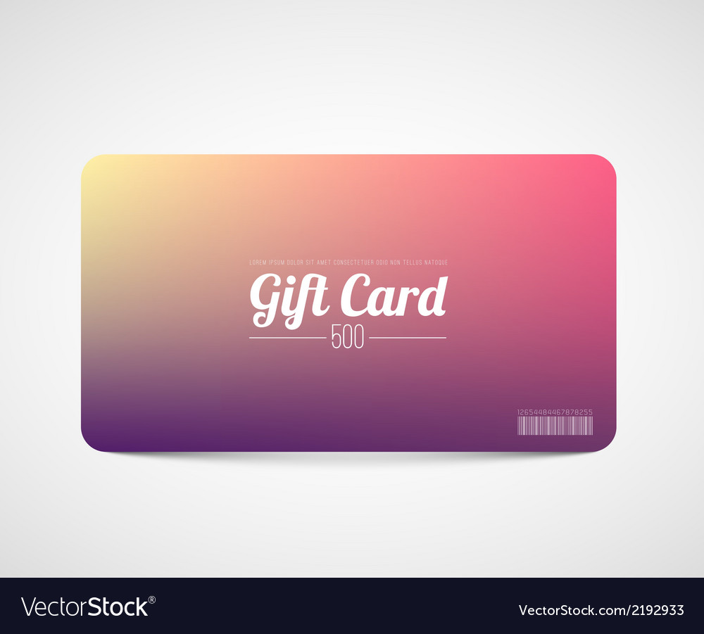 Modern simple gift card template royalty free vector image modern simple gift card template vector image yelopaper Choice Image