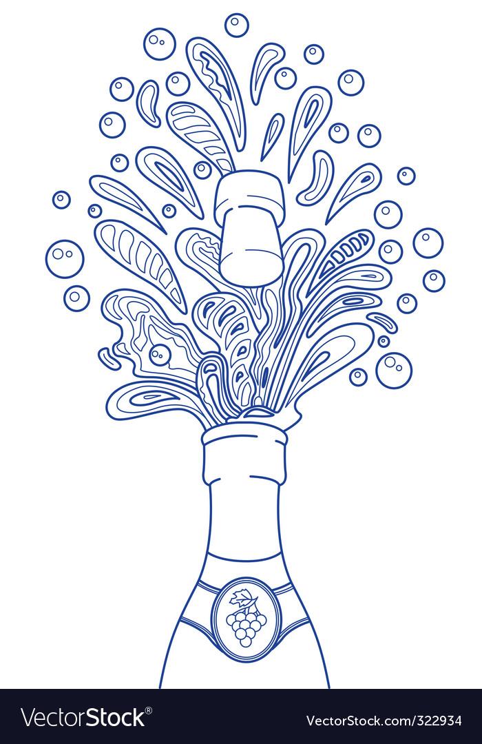 Champagne splashes Vector Image