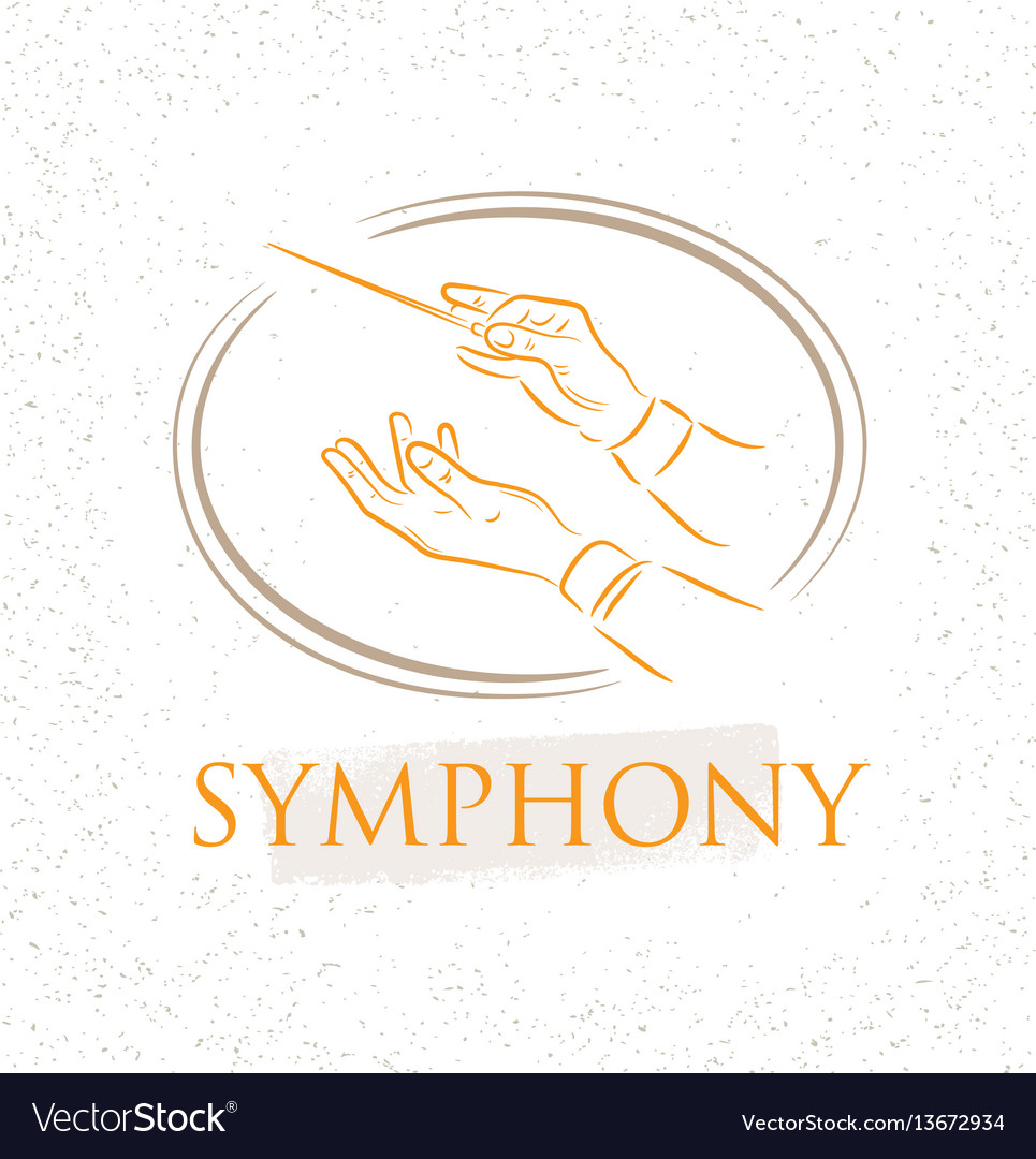 Flat conductor orchestra vector image