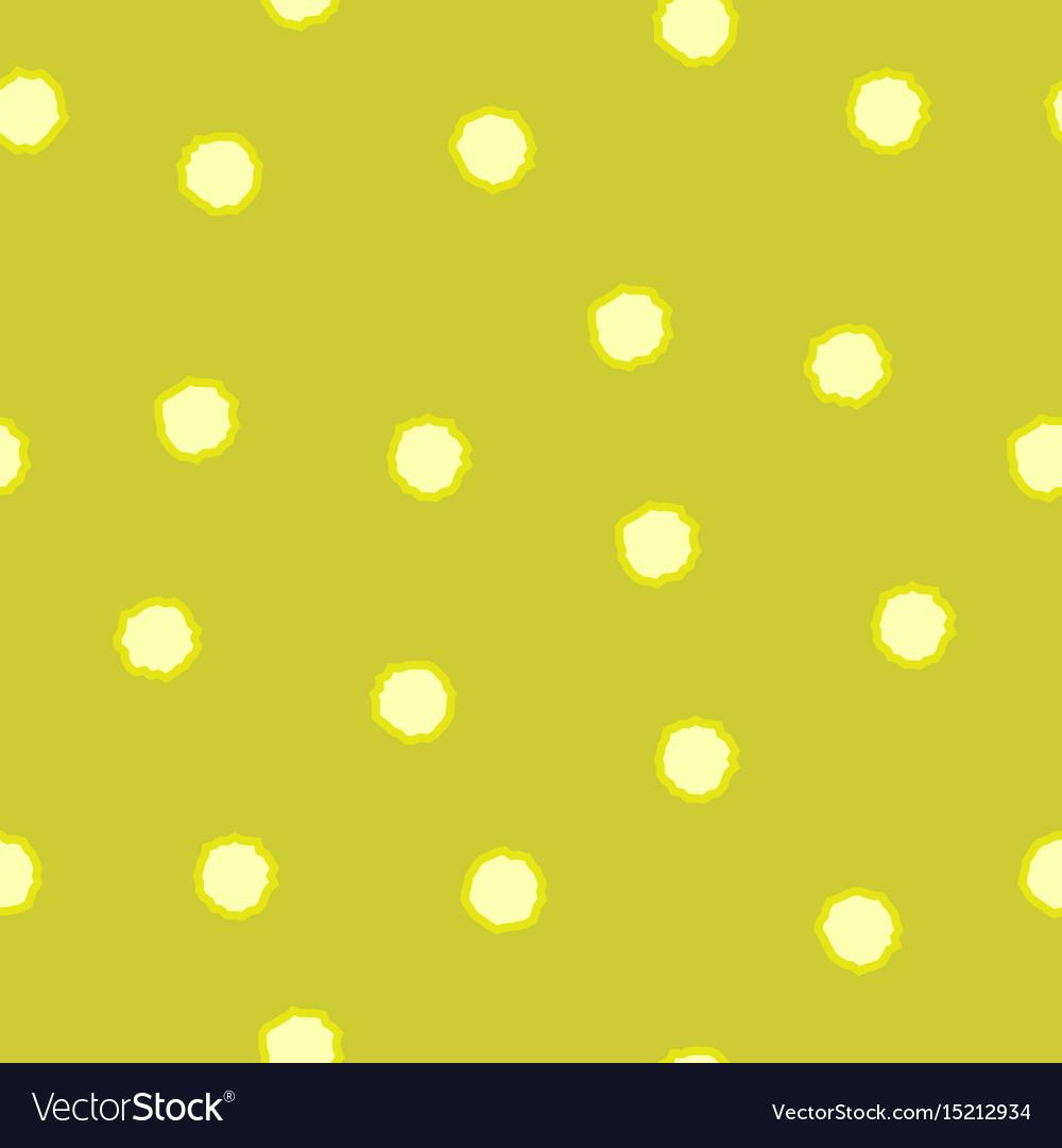 Polka dot chaotic seamless pattern 209 vector image
