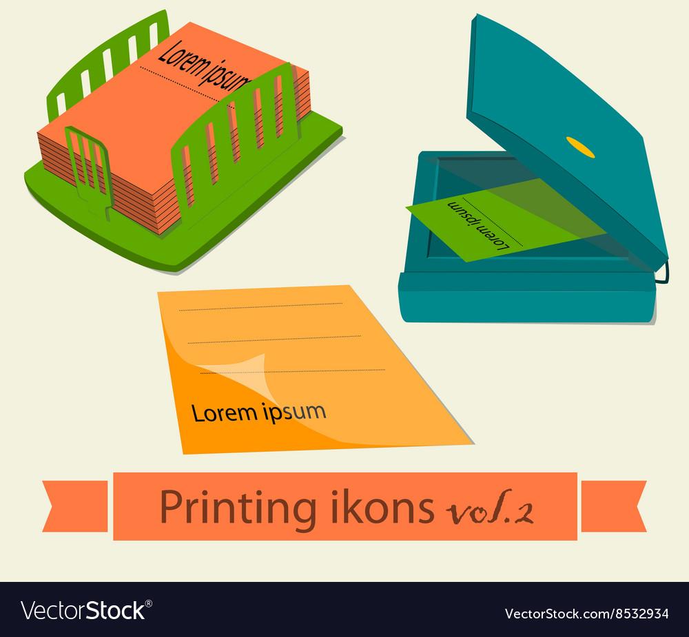 Print icons set2 vector image