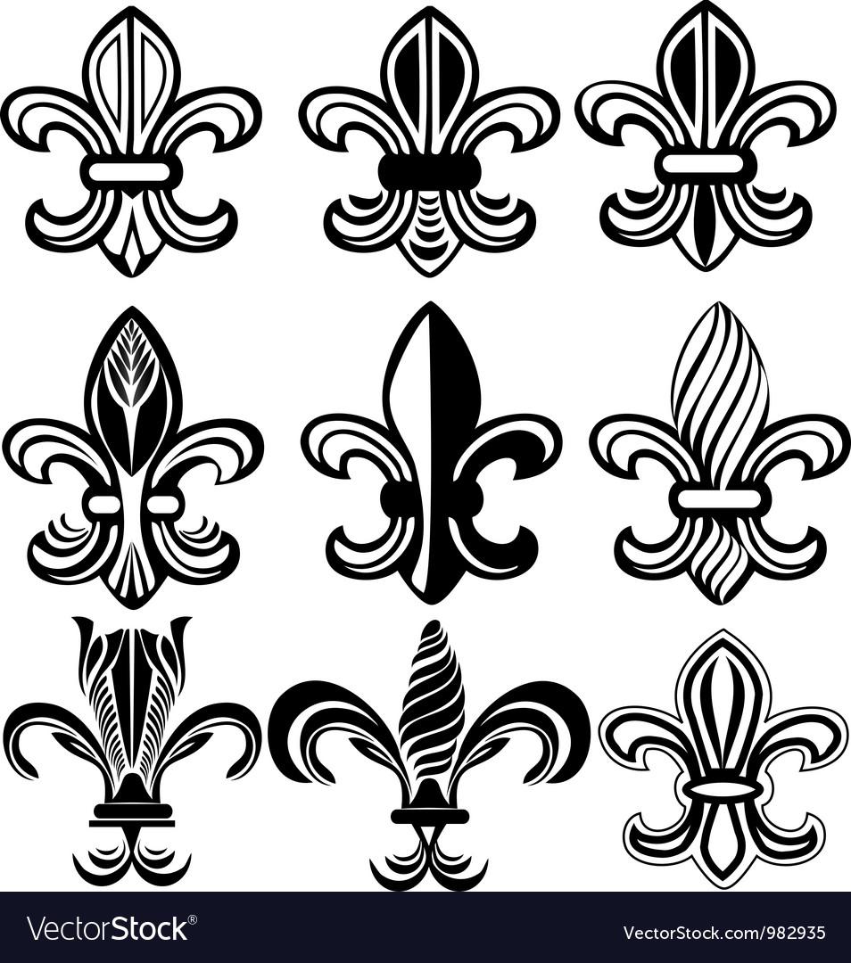 Fleur De Lis New Orleans symbol vector image
