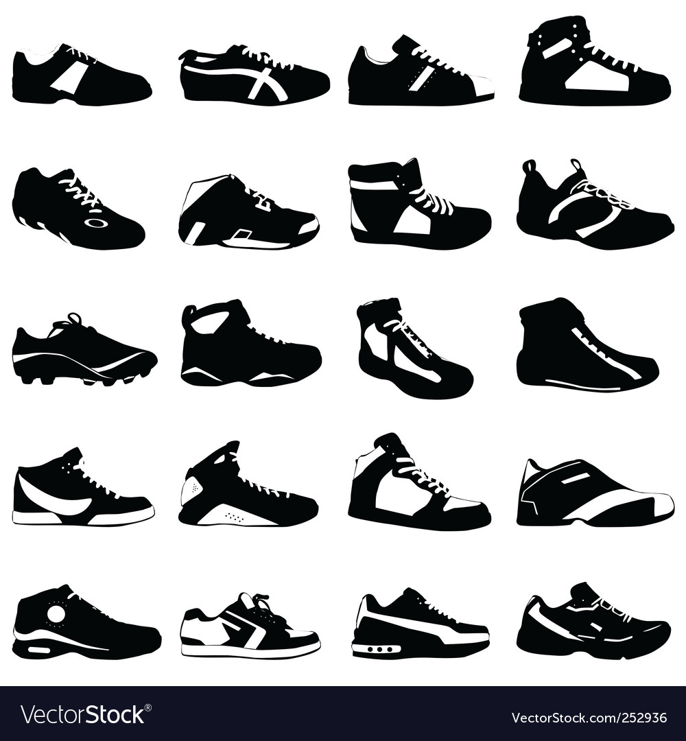 Fashion sport shoes vector image