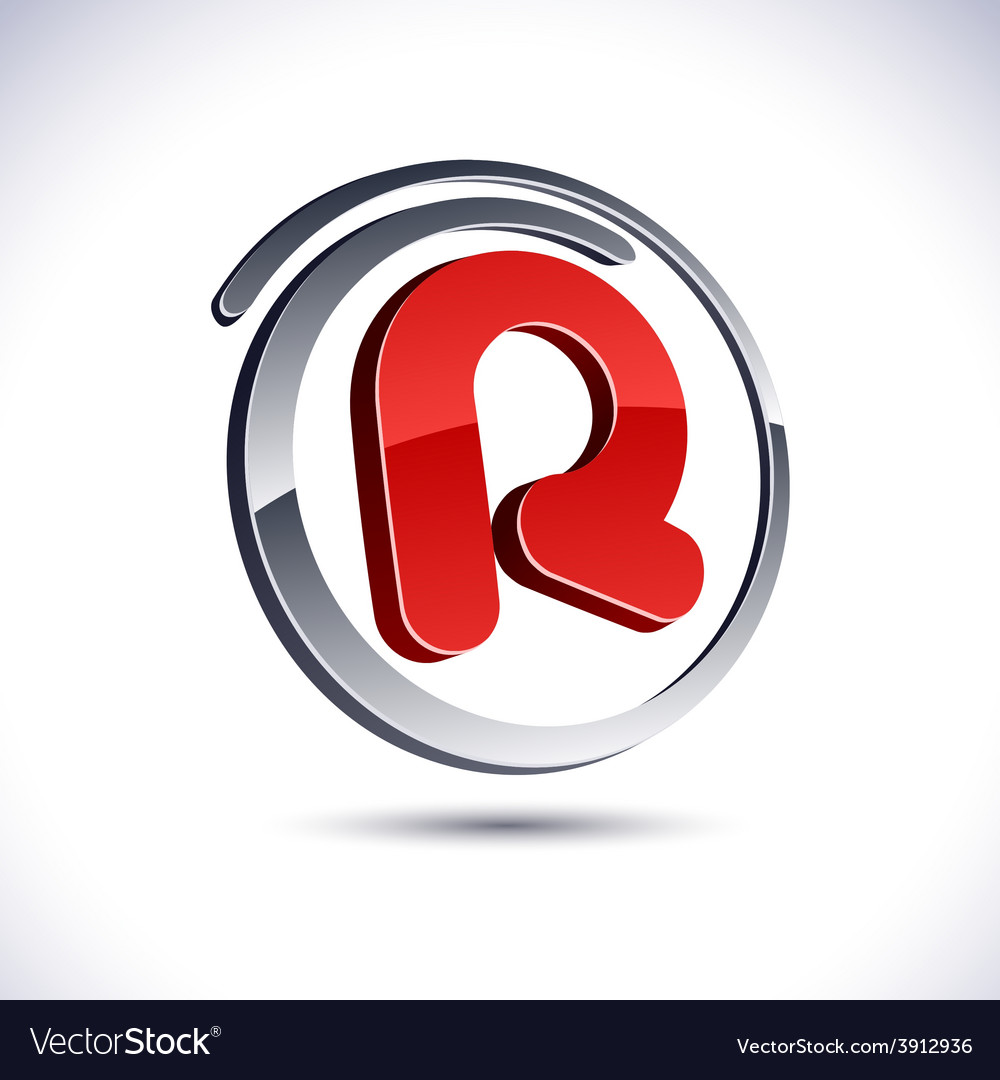 3d r letter icon royalty free vector image vectorstock 3d r letter icon vector image thecheapjerseys Images