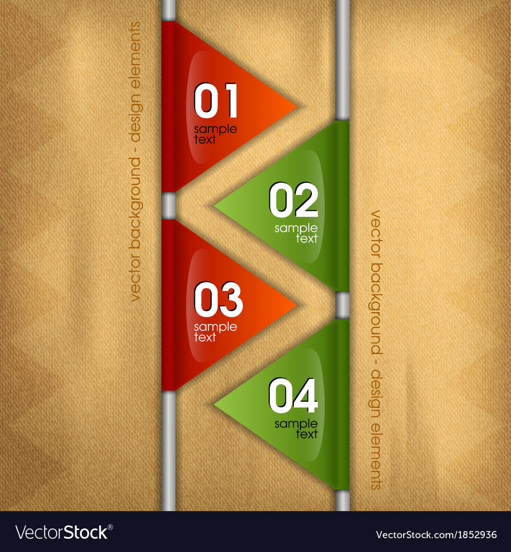 Business triangles with text vector image