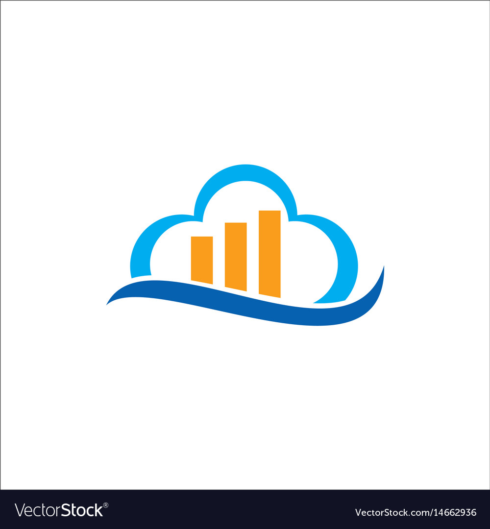 Cloud business data logo vector image