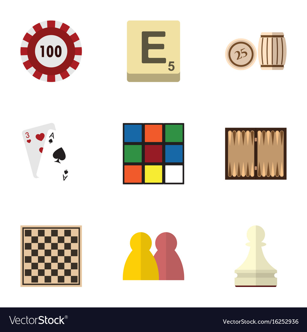 Flat icon entertainment set of dice lottery vector image