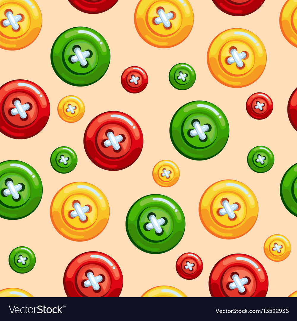 Seamless texture with buttons vector image